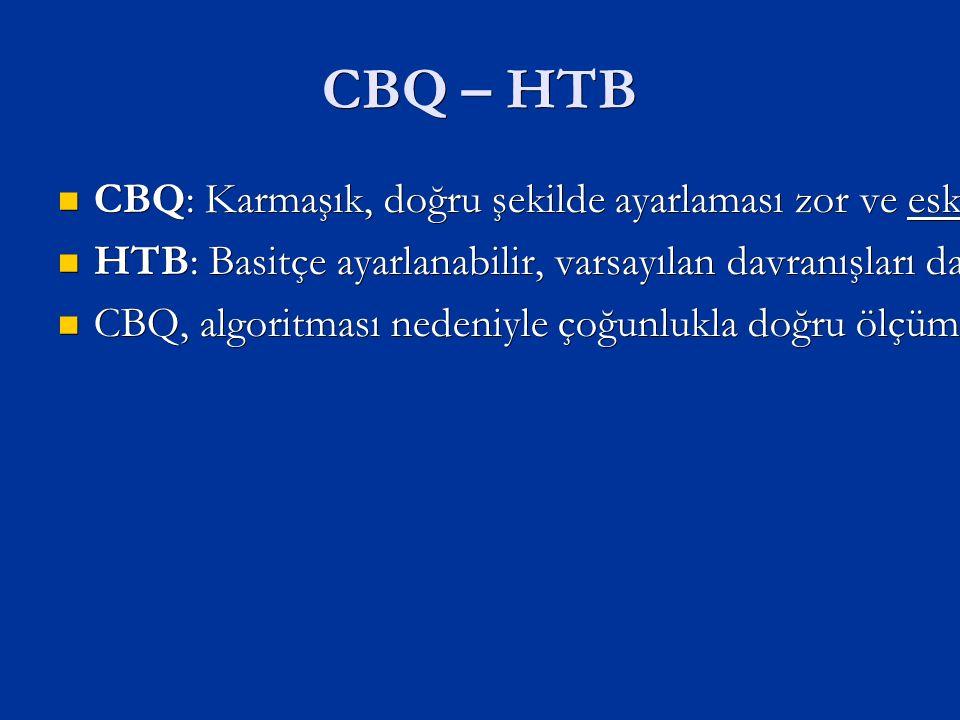 CBQ – HTB CBQ: Karmaşık, doğru şekilde ayarlaması zor ve eski CBQ: Karmaşık, doğru şekilde ayarlaması zor ve eski HTB: Basitçe ayarlanabilir, varsayılan davranışları daha mantıklıdır.