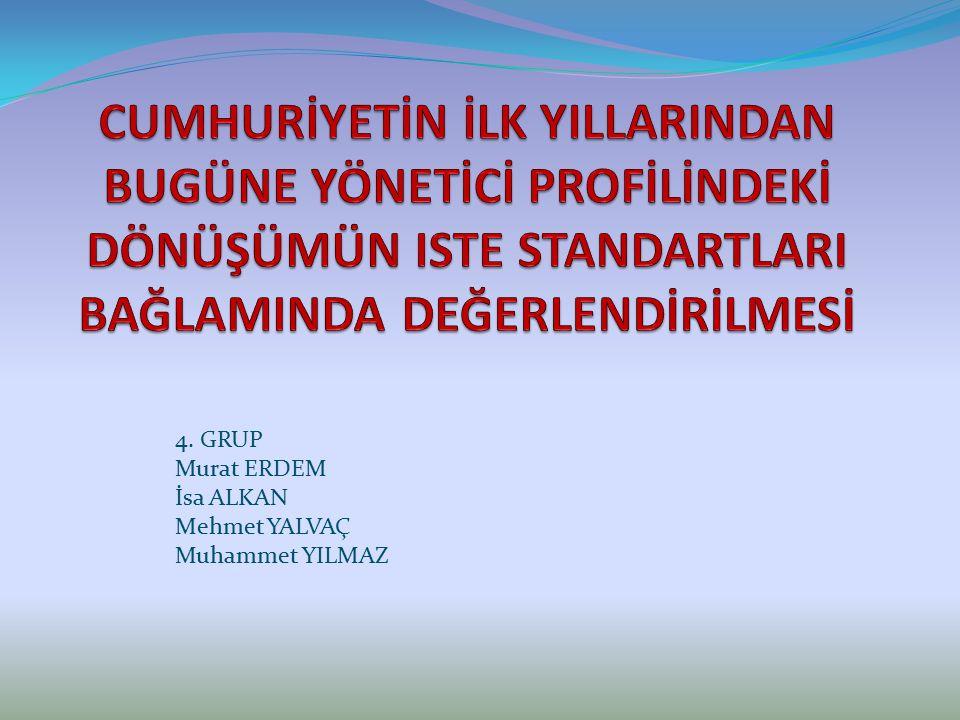 4. GRUP Murat ERDEM İsa ALKAN Mehmet YALVAÇ Muhammet YILMAZ