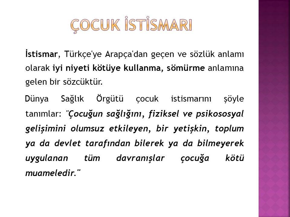 İstismar, Türkçe ye Arapça dan geçen ve sözlük anlamı olarak iyi niyeti kötüye kullanma, sömürme anlamına gelen bir sözcüktür.