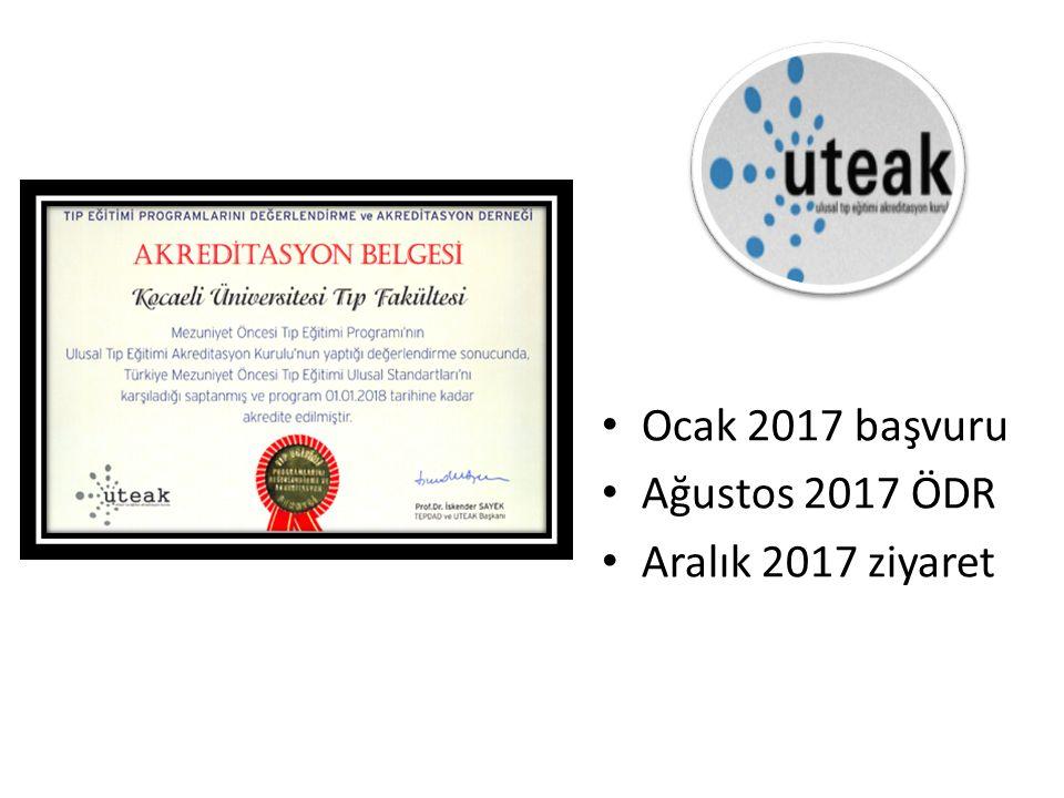 Ocak 2017 başvuru Ağustos 2017 ÖDR Aralık 2017 ziyaret