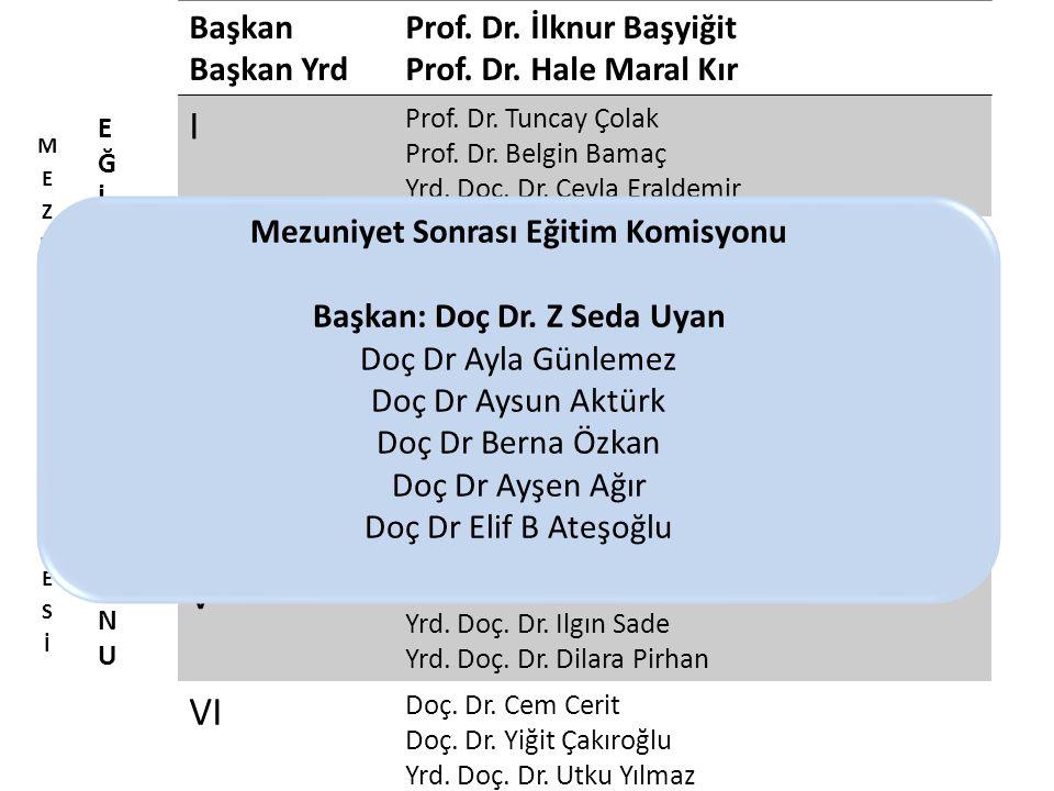 Başkan Başkan Yrd Prof. Dr. İlknur Başyiğit Prof.