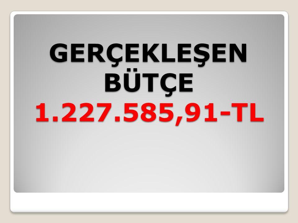 GERÇEKLEŞEN BÜTÇE 1.227.585,91-TL