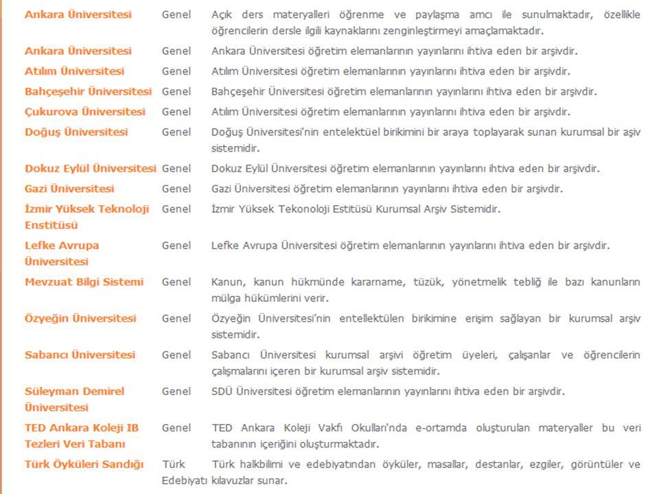 - 12 Ulusal KA girişimleri