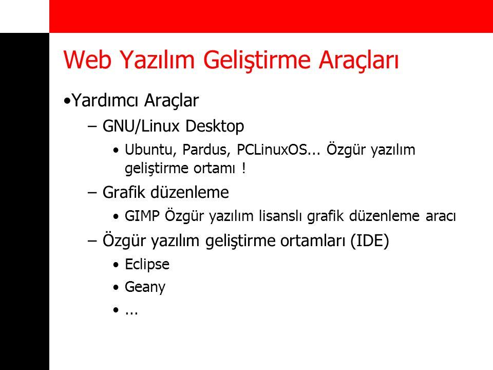 Yardımcı Araçlar –GNU/Linux Desktop Ubuntu, Pardus, PCLinuxOS...
