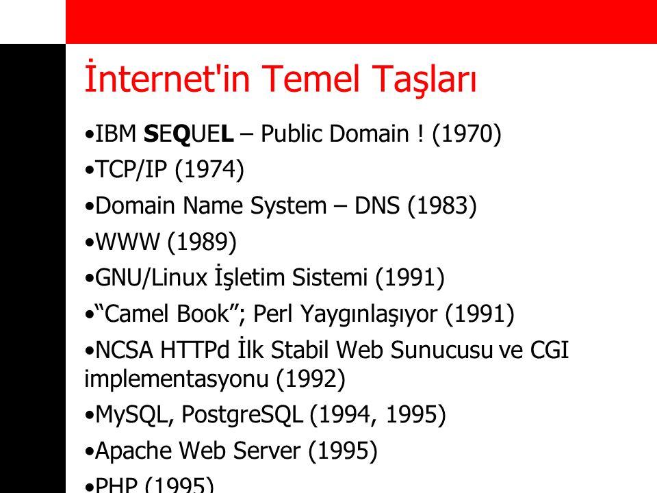 Web Yazılım Geliştirme Araçları GNU C (GCC) –Genelde backend yazılımlar Perl 5 –Web uygulamaları, backend ve sunucu yönetimi PHP 5 –Web uygulamaları Python 3 –Web uygulamaları, backend ve sunucu yönetimi Ruby