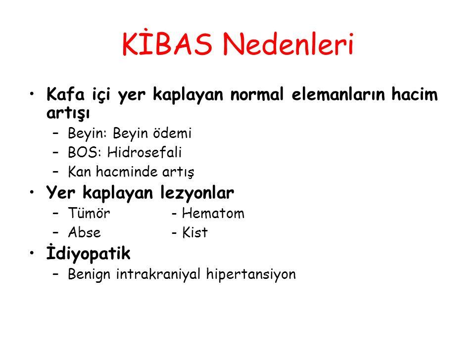 KİBAS Tedavisinde Hiperosmolar Tedavi (Mannitol ) İki mekanizma ile İKB'ı azaltır 1.