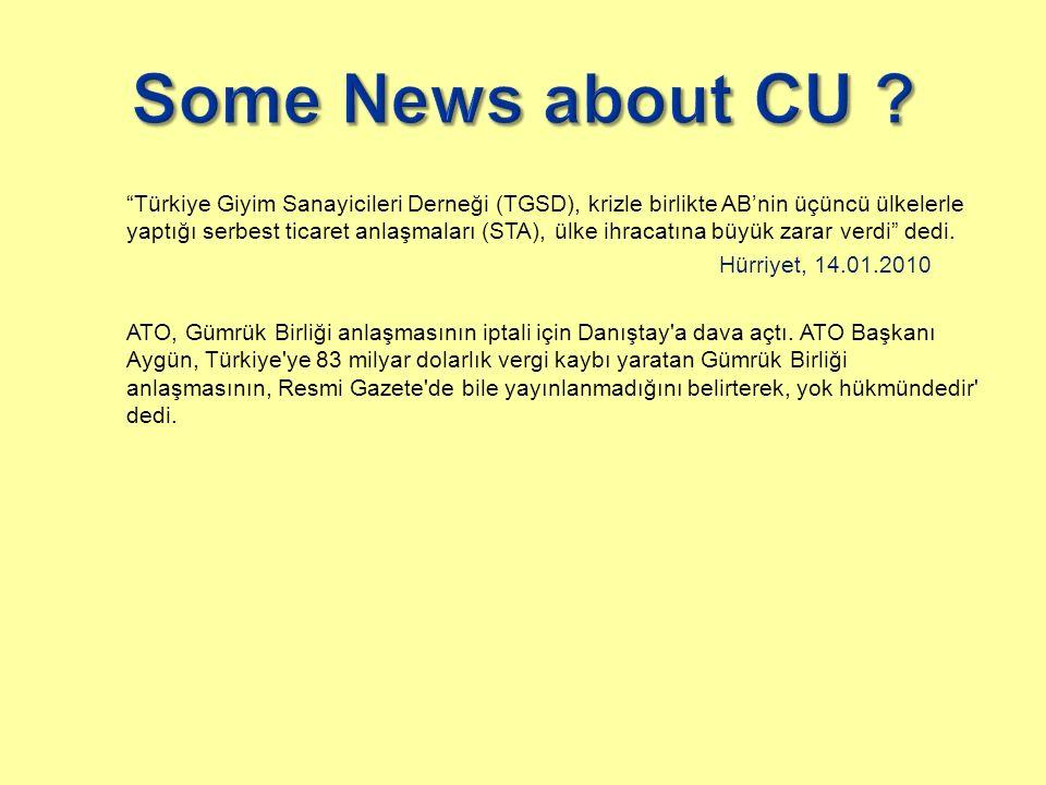 Türkiye Giyim Sanayicileri Derneği (TGSD), krizle birlikte AB'nin üçüncü ülkelerle yaptığı serbest ticaret anlaşmaları (STA), ülke ihracatına büyük zarar verdi dedi.