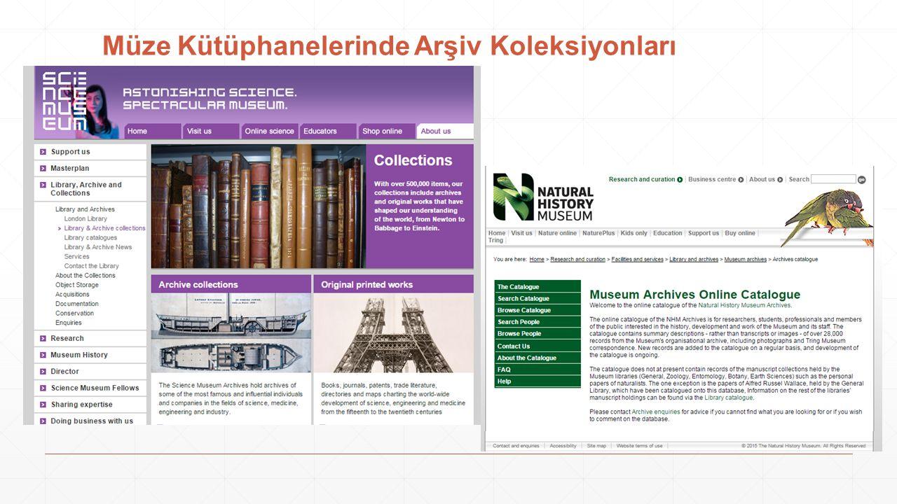 Müze Kütüphanelerinde Arşiv Koleksiyonları