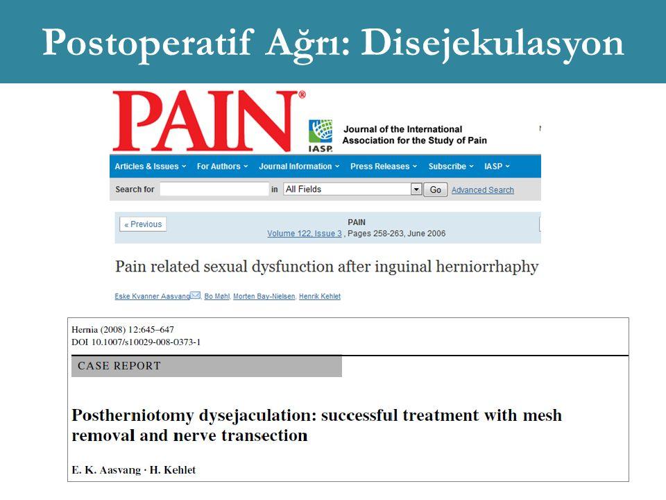 Postoperatif Ağrı: Disejekulasyon