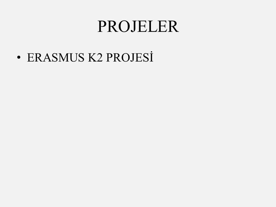 PROJELER ERASMUS K2 PROJESİ