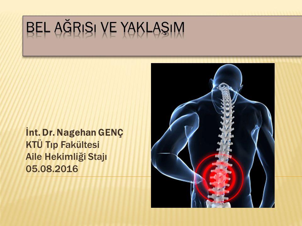 1.Bel ağrısının nedenlerini sayabilmek 2.