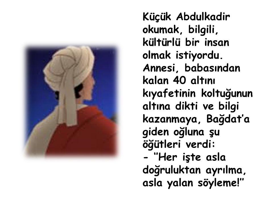 Küçük Abdulkadir okumak, bilgili, kültürlü bir insan olmak istiyordu.