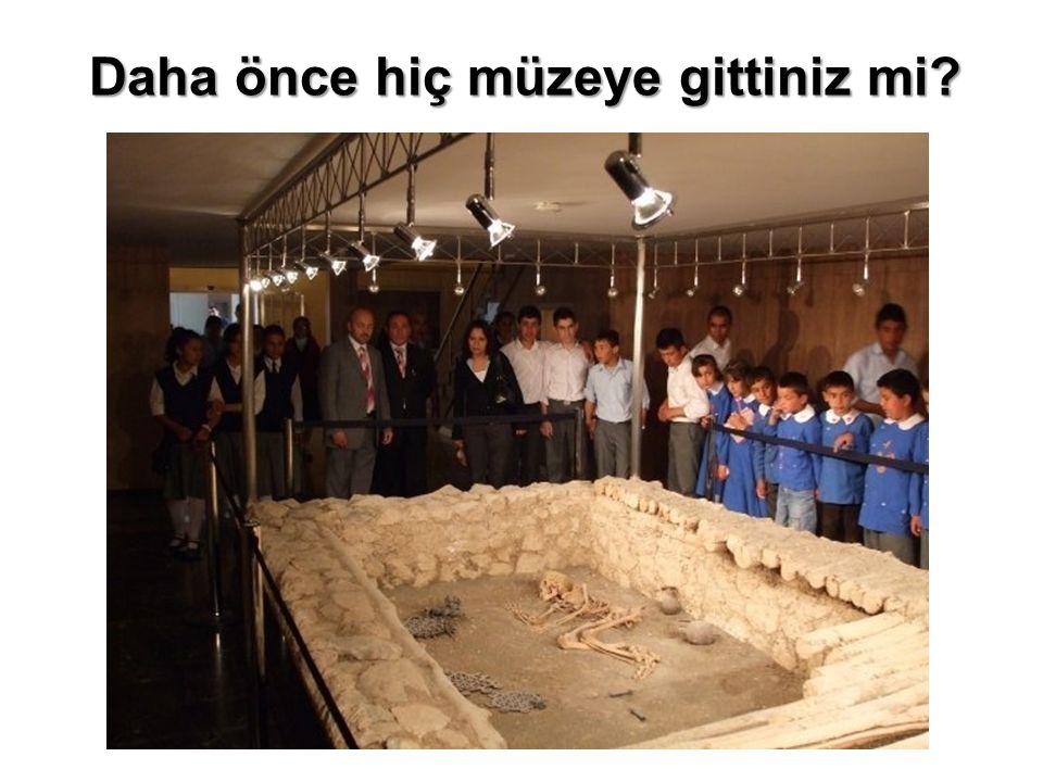 Daha önce hiç müzeye gittiniz mi?