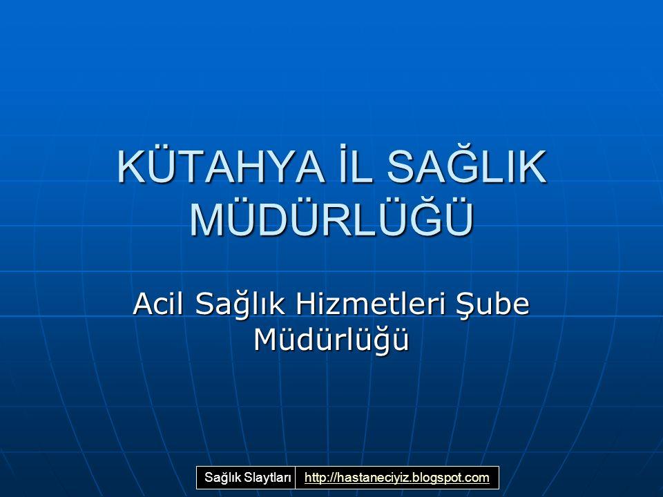 KÜTAHYA İL SAĞLIK MÜDÜRLÜĞÜ Acil Sağlık Hizmetleri Şube Müdürlüğü Sağlık Slaytlarıhttp://hastaneciyiz.blogspot.com