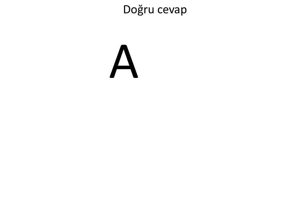 Doğru cevap A