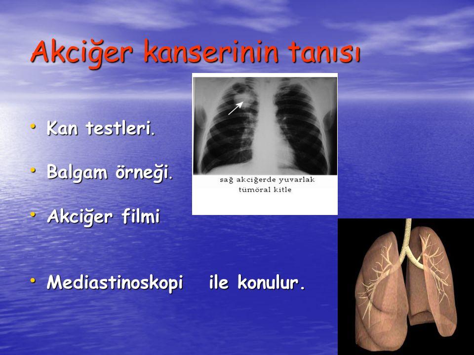 Akciğer kanserinin tanısı Kan testleri. Kan testleri.