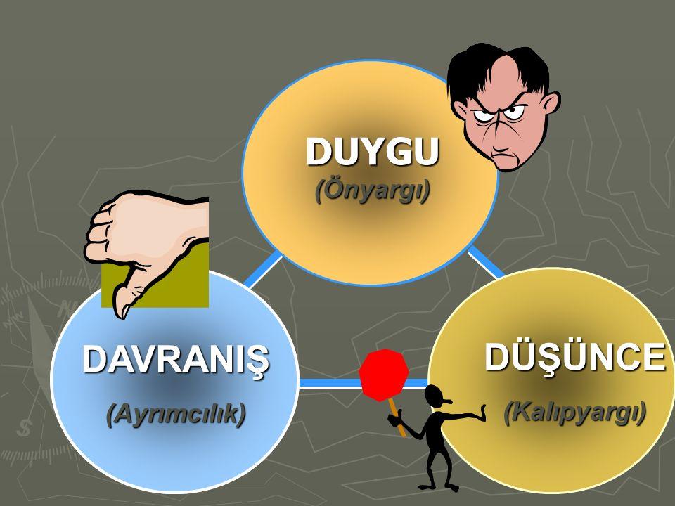 AFFECT (Feelings) BEHAVIOR (Actions you would take) DAVRANIŞ (Ayrımcılık) DUYGU (Önyargı) DÜŞÜNCE (Kalıpyargı)