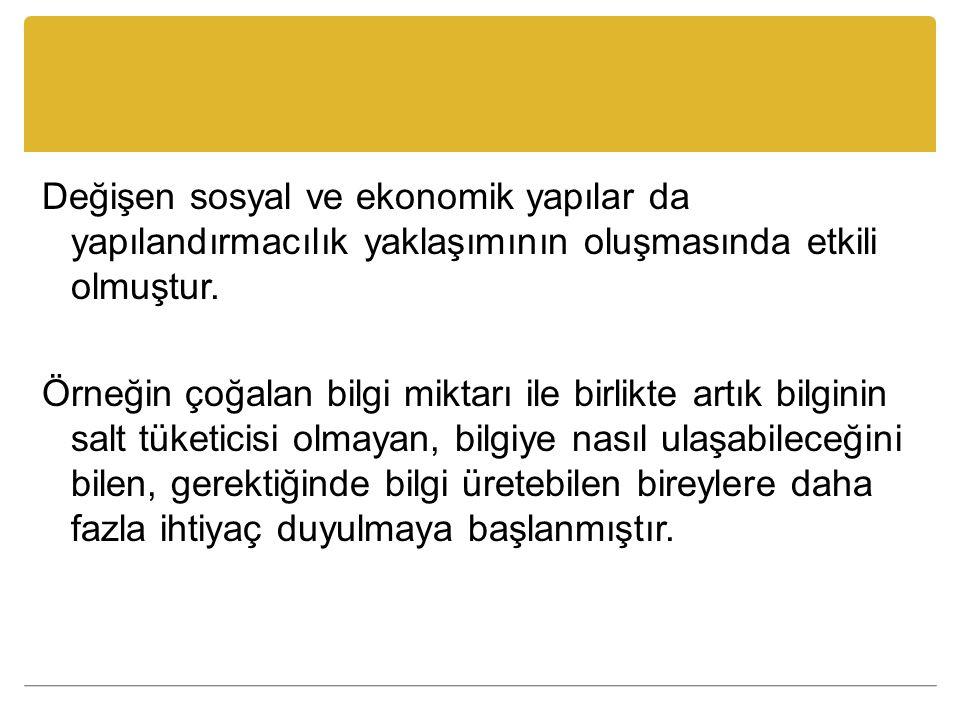 Kaynaklar Erişti, B.(2013). Beyin Temelli Öğrenme ve Yapılandırmacılık.