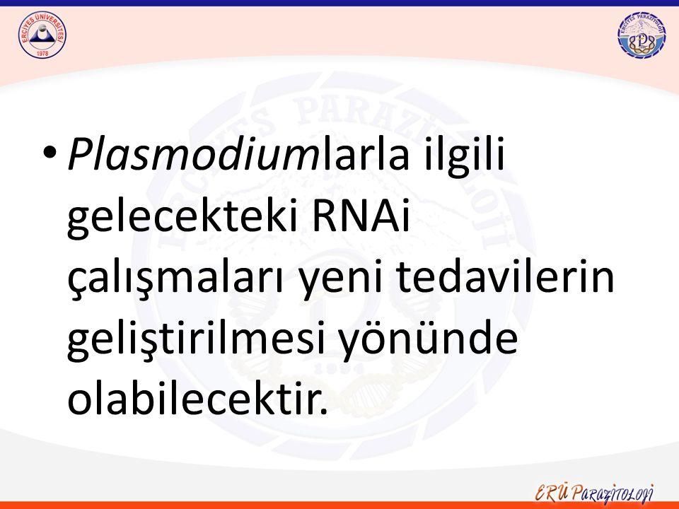Plasmodiumlarla ilgili gelecekteki RNAi çalışmaları yeni tedavilerin geliştirilmesi yönünde olabilecektir.