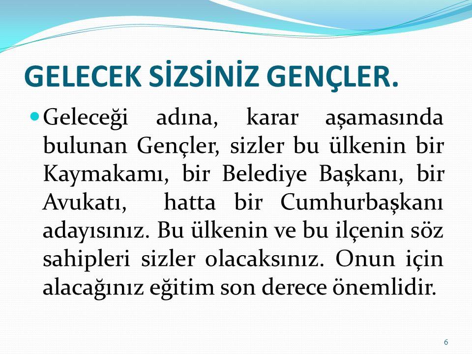 GELECEK SİZSİNİZ GENÇLER.