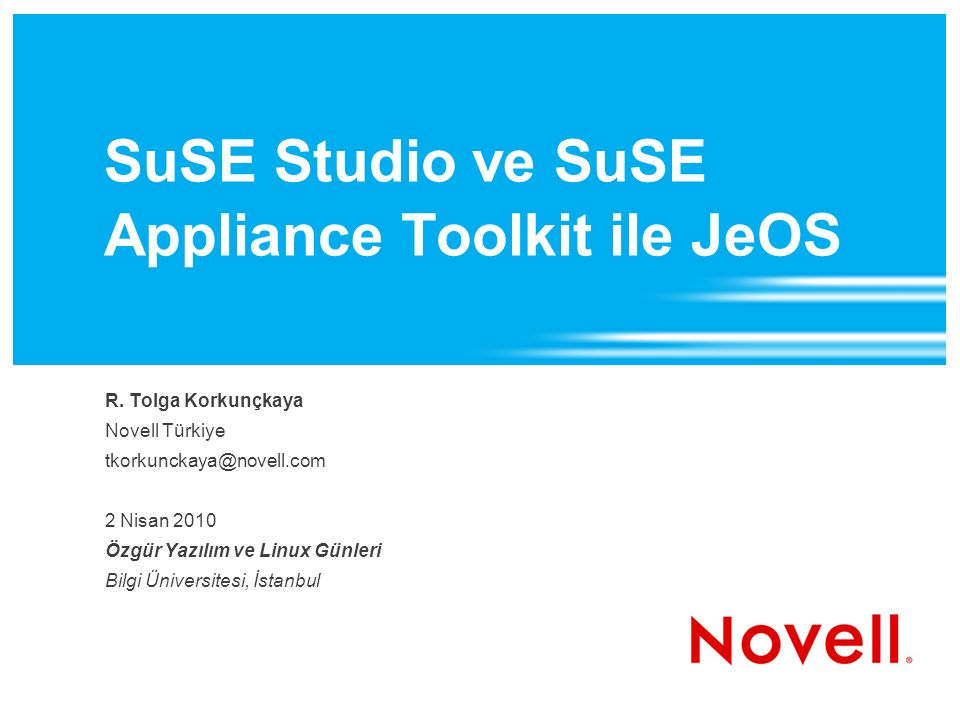 SuSE Studio ve SuSE Appliance Toolkit ile JeOS R.
