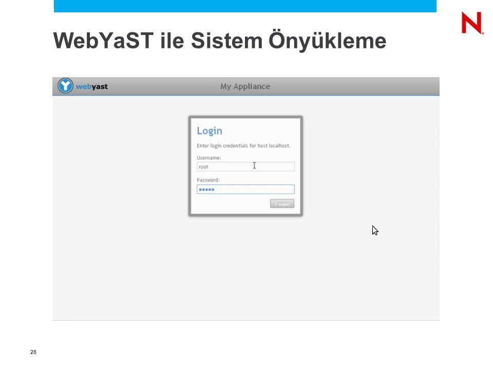 2828 WebYaST ile Sistem Önyükleme