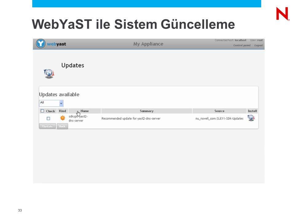 3 WebYaST ile Sistem Güncelleme