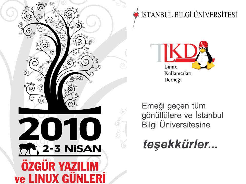 3636 teşekkürler... Emeği geçen tüm gönüllülere ve İstanbul Bilgi Üniversitesine
