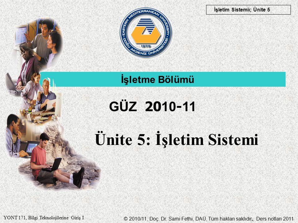 © 2010/11, Doç. Dr.