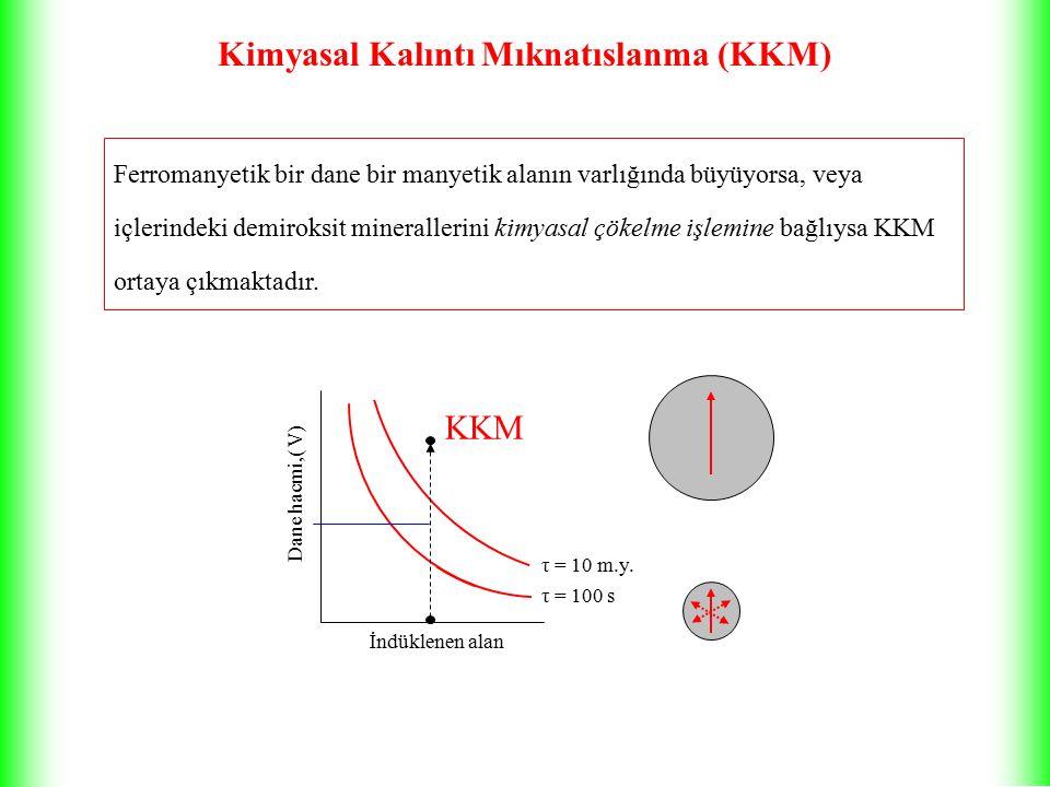 Kimyasal Kalıntı Mıknatıslanma (KKM) Ferromanyetik bir dane bir manyetik alanın varlığında büyüyorsa, veya içlerindeki demiroksit minerallerini kimyasal çökelme işlemine bağlıysa KKM ortaya çıkmaktadır.