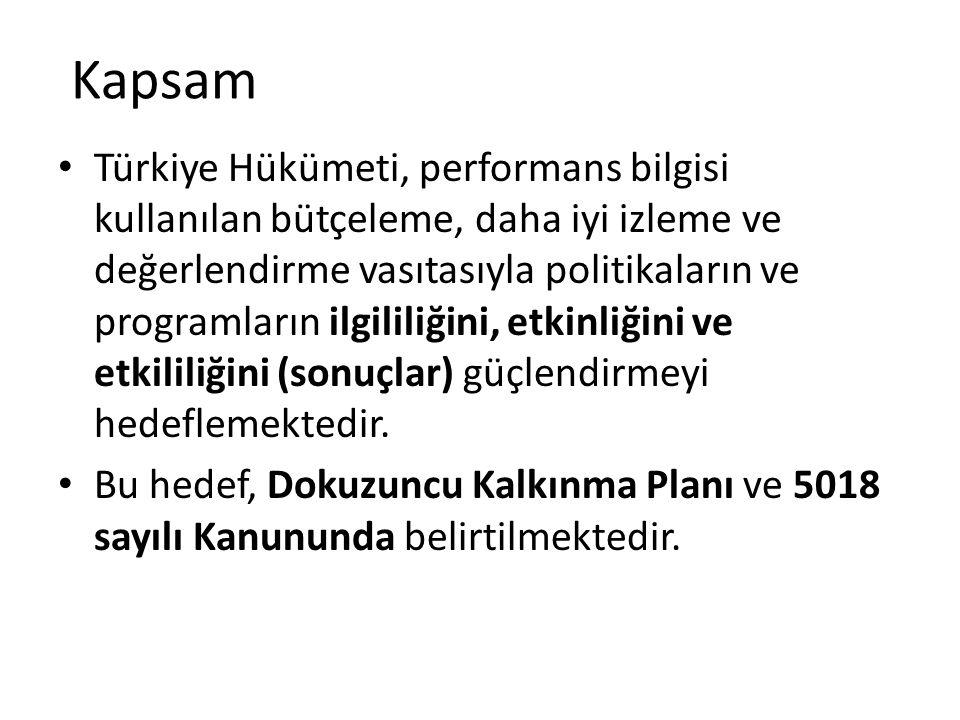 Kapsam (2) 2007'de DPT, Kalkınma Plan ve Programlarının İzlenmesi ve Değerlendirilmesi Projesini (MEDP) başlatarak bu kararlılığı eyleme dönüştürmek istemiştir.