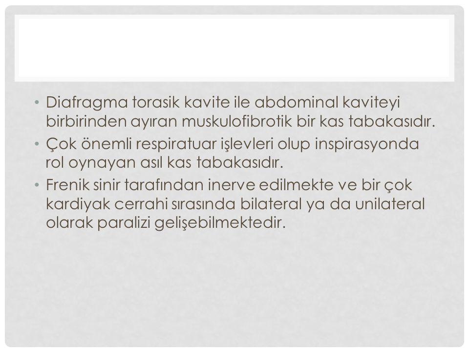 Başlıklar 1.Frenik sinir anatomisi 2.Etyoloji 3.İnsidans 4.Patofizyoloji 5.Klinik 6.Yaklaşım
