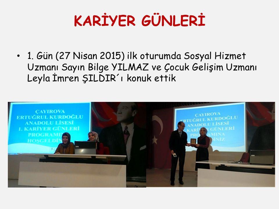KARİYER GÜNLERİ 1.