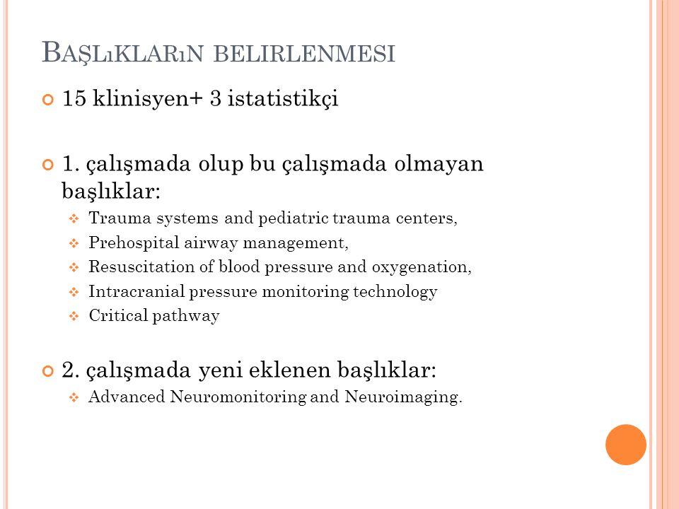 B AŞLıKLARıN BELIRLENMESI 1.
