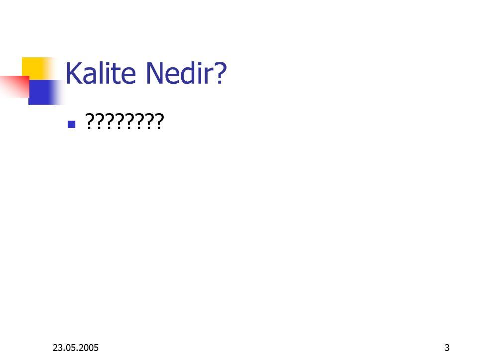 23.05.20053 Kalite Nedir? ????????