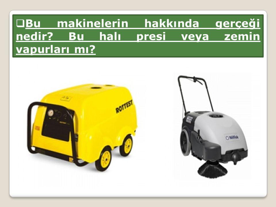  Bu makinelerin hakkında gerçeği nedir? Bu halı presi veya zemin vapurları mı?