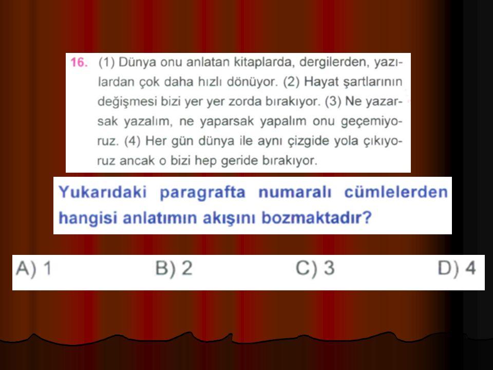 Aşağıdaki cümlelerin hangisinde, zarfın anlamını sınırlayan zarftan kullanılmıştır.