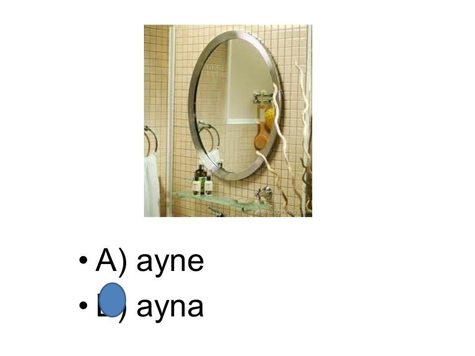 A) ayne B) ayna
