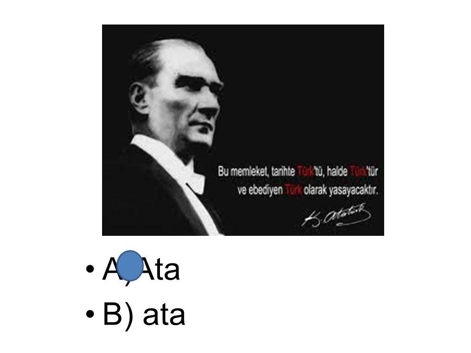 A)Ata B) ata