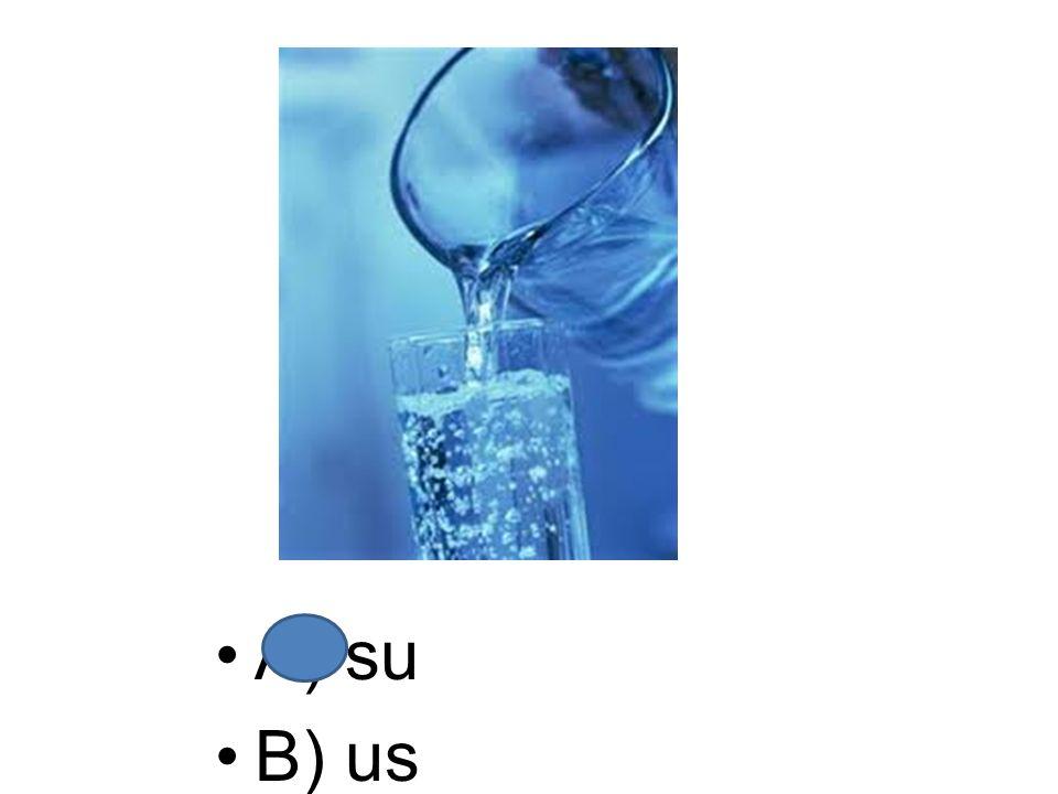 A) su B) us