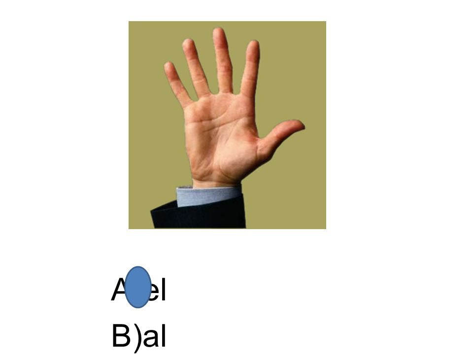 A)el B)al