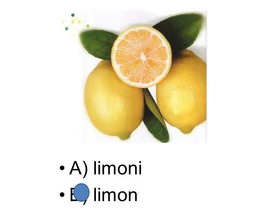 A) limoni B) limon