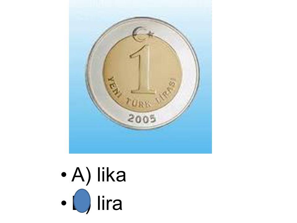 A) lika B) lira