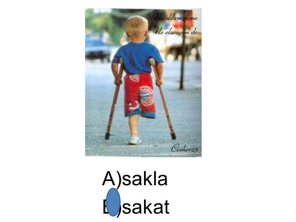 A)sakla B)sakat