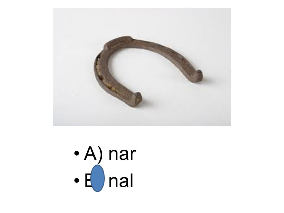 A) nar B) nal