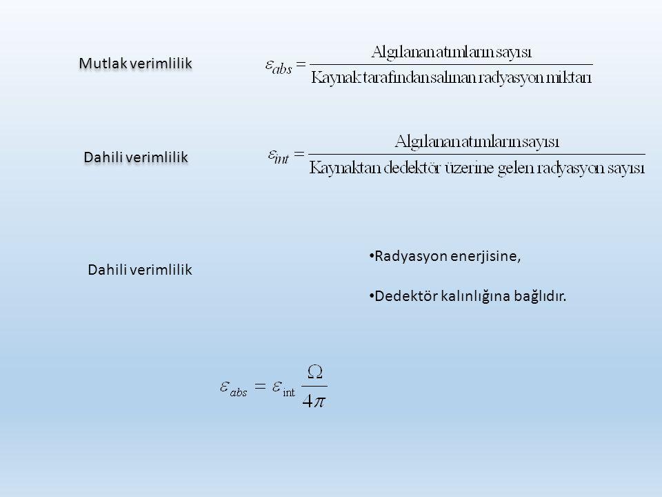 Farklı izotoplarda dedektörin verimlerinin irdelenmesi 18 Dedektörİzotop%Verim Sintilasyon Gazlı 14 C5 241 Am8 90 Sr59 99 Tc12 137 Cs24 230 Th15 239 Pu12