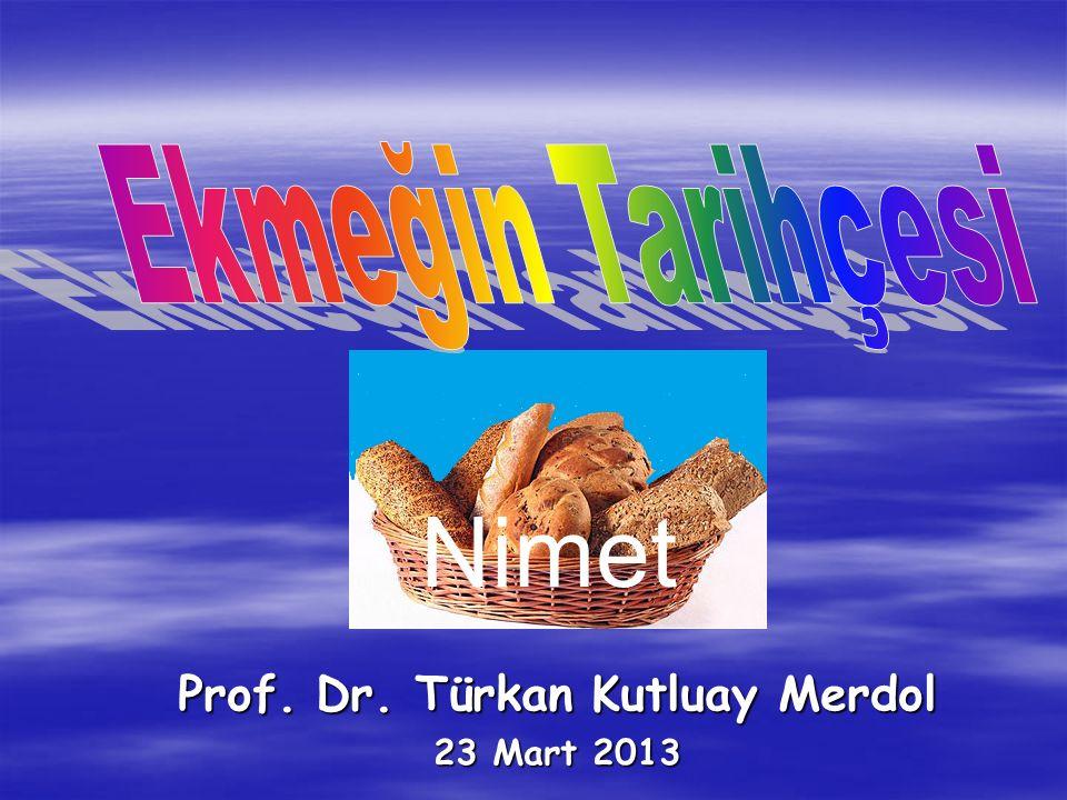 Prof. Dr. Türkan Kutluay Merdol 23 Mart 2013 Nimet