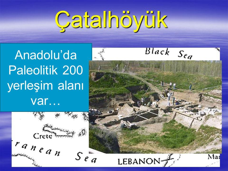 Çatalhöyük Çatalhöyük Anadolu'da Paleolitik 200 yerleşim alanı var…