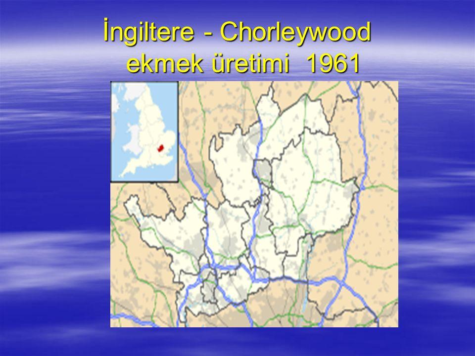 İngiltere - Chorleywood ekmek üretimi 1961