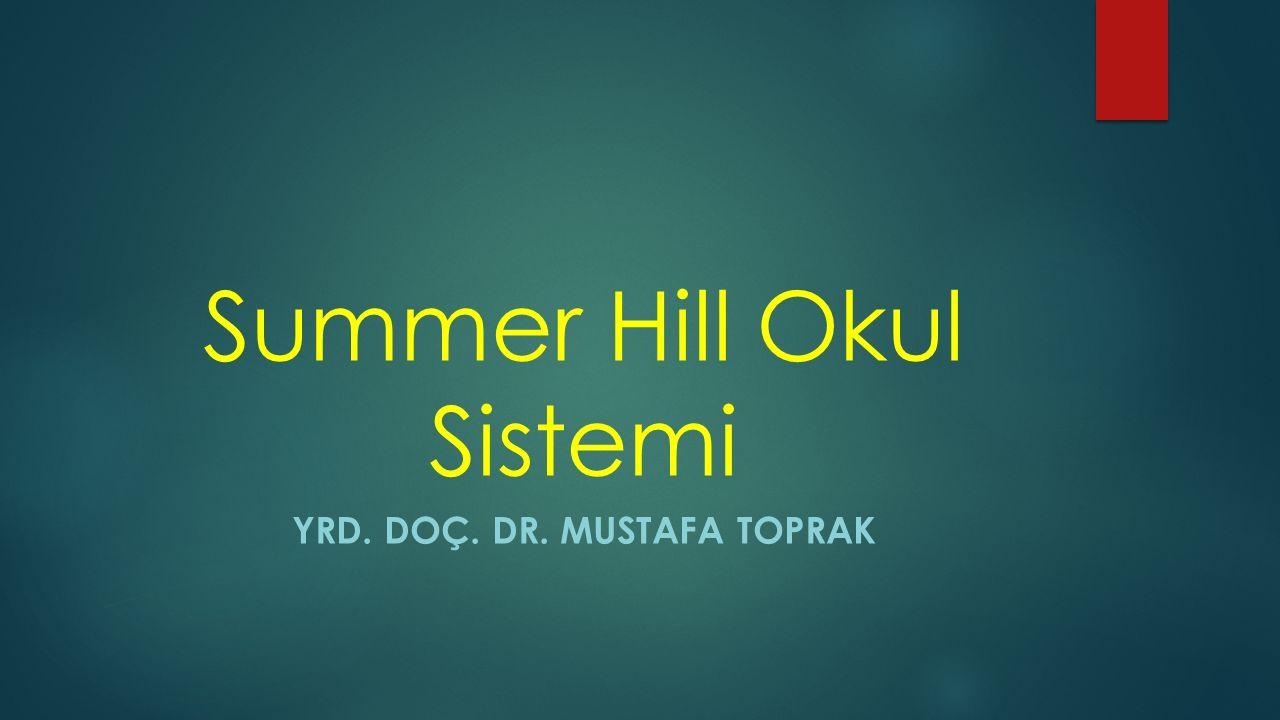 Summer Hill Okul Sistemi YRD. DOÇ. DR. MUSTAFA TOPRAK